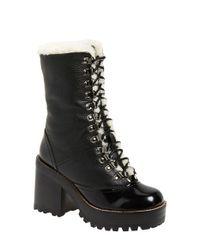 Jeffrey Campbell - Black Big Sur Lace-Up Mid-Calf Boots - Lyst