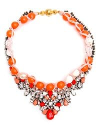 Shourouk - Yellow 'Theresa' Necklace - Lyst