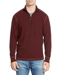 Agave | Red 'julias' Quarter-zip Pullover for Men | Lyst