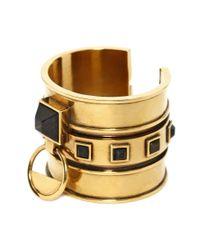 Alexander McQueen | Metallic Square Enamel Bracelet | Lyst