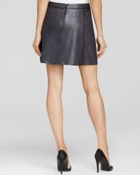 Vince - Blue Skirt Contrast Insert Leather - Lyst