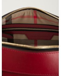 Burberry - Red Logo Tote - Lyst