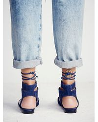 Free People | Blue Kolida Flat | Lyst