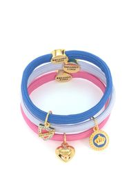 Juicy Couture | Multicolor Set Of 3 Charmy Hair Elastics | Lyst
