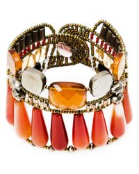 Ziio | Brown Murano Glass Beaded Bracelet | Lyst