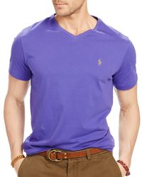 Ralph Lauren | Purple Polo Jersey V-neck Tee for Men | Lyst