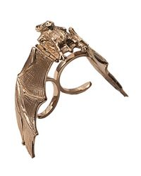 Bernard Delettrez - Metallic Bat Bronze Double Finger Ring - Lyst