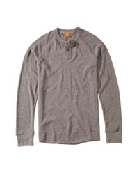 BOSS Orange | Gray Cotton Long-sleeve Shirt 'trucker 1' for Men | Lyst