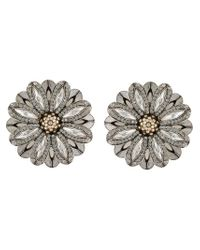 Lanvin | Gray Star And Moon Clip-on Earrings | Lyst