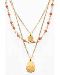 Satya Jewelry | Metallic Beaded Layered Necklace - Carnelian- Lotus (nordstrom Exclusive) | Lyst