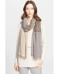 Fabiana Filippi - Natural Colorblock Scarf - Lyst