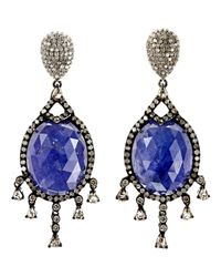 Carole Shashona | Blue Bleu Royalty Earrings | Lyst