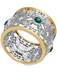 Swarovski | Metallic Two-tone Crystal Openwork Ring | Lyst
