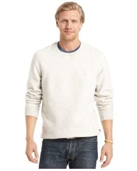 Izod | Black Big And Tall Sueded Crew-neck Pullover for Men | Lyst
