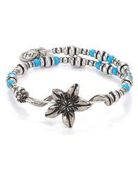 ALEX AND ANI | Blue Vintage 66 Valley Wrap Bracelet | Lyst