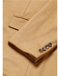 J.Crew - Natural 'ludlow' Peak Lapel Topcoat In Wool-cashmere for Men - Lyst