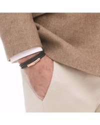 John Hardy - Metallic Bamboo Wrap Bracelet In Bronze And Leather for Men - Lyst