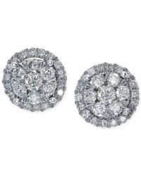 Effy Collection | Metallic Effy Diamond Stud Earrings In 14k White Gold (5/8 Ct. T.w.) | Lyst