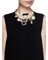 Erickson Beamon | Metallic 'lady And The Tramp' Faux Pearl Velvet Chain Necklace | Lyst