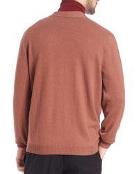 Brunello Cucinelli - Brown V-neck Cardigan for Men - Lyst