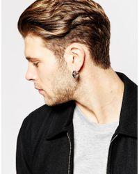 ASOS | Metallic Hoop Earrings With Color Insert for Men | Lyst