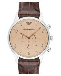 Emporio Armani | Brown Chronograph Watch for Men | Lyst