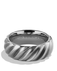 David Yurman | Gray Modern Cable Band Ring | Lyst