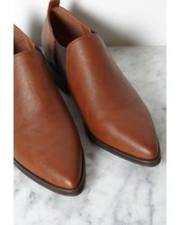 Forever 21 - Brown Faux Leather Chelsea Booties - Lyst