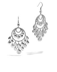 John Hardy | Metallic Dot Disc Chandelier Earrings | Lyst