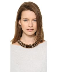 Bex Rox - Pink Frida Collar Necklace Rose Goldblack - Lyst