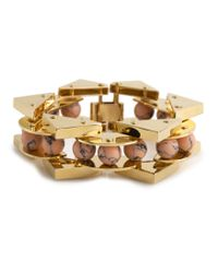 Lele Sadoughi | Metallic Stone Satellite Bracelet, Coral | Lyst