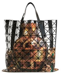 Bao Bao Issey Miyake | Multicolor 'W' Printed Geometric Tote | Lyst
