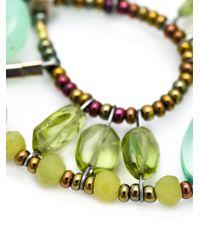 Ziio | Green Murano Glass Bead Earrings | Lyst