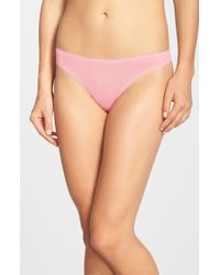 On Gossamer | Pink Mesh Hip-g Thong | Lyst