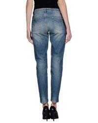 Twin Set - Blue Denim Trousers - Lyst