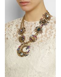 Erickson Beamon | Pink Clairvoyant Goldplated Swarovski Crystal Necklace | Lyst