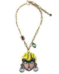 Lanvin | Metallic 'xandra' Necklace | Lyst