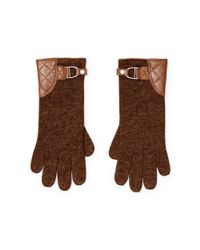 Pink Pony - Brown Belted Wool-blend Gloves - Lyst