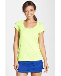 Zella | Yellow 'Sunny Run' Short Sleeve Tee | Lyst