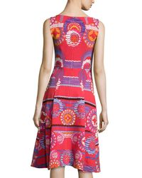Peter Pilotto - Red Sleeveless Medallion-print Dress - Lyst