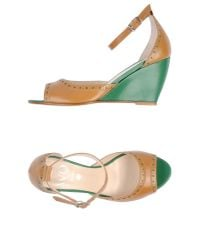Wo Milano | Natural Sandals | Lyst