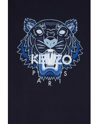 KENZO - Blue Iconic Tiger T-shirt for Men - Lyst