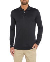 Bobby Jones | Black Solid Supreme Long Sleeve Polo for Men | Lyst