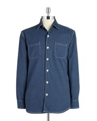 Tommy Bahama - Blue New Seaside Flannel Sportshirt for Men - Lyst