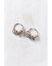 Urban Outfitters | Metallic Many Rings Hoop Earring | Lyst