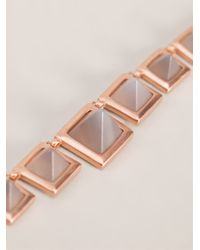 Eddie Borgo | Metallic Gemstone Pyramid Necklace | Lyst