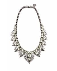 Ellen Conde | Natural Powder Green Pearl And Crystal Sr2 Necklace | Lyst