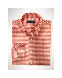 Polo Ralph Lauren - Orange Gingham Cotton Poplin Shirt for Men - Lyst