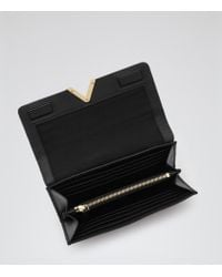 Reiss | Black Chaucer Leather Fold Wallet | Lyst