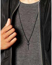 Icon Brand - Black Skull & Key Necklace for Men - Lyst